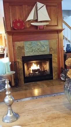 Wellfleet  Cape Cod vacation rental - Cozy fireplace
