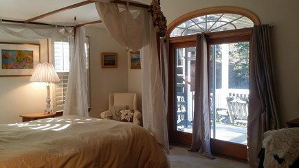 Wellfleet  Cape Cod vacation rental - Master Bedroom Queen, access to 2 Decks