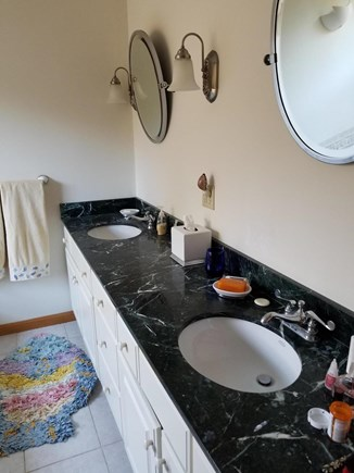 Wellfleet  Cape Cod vacation rental - Master Bath with Double Sinks