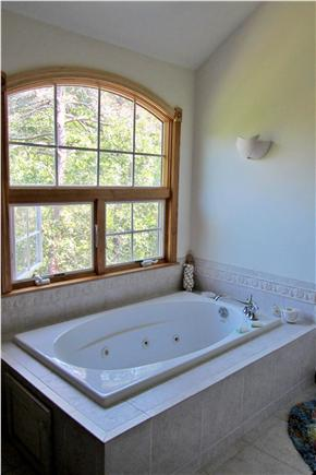 Wellfleet  Cape Cod vacation rental - Master Bathroom has Jacuzzi and His and Her sinks