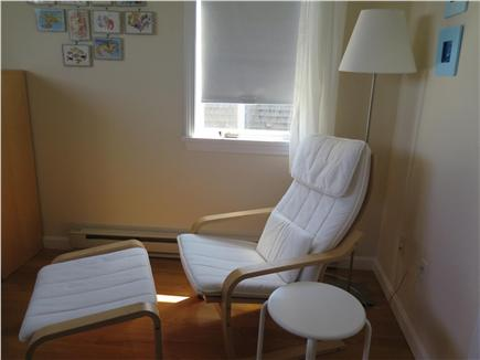 Beach Point, North Truro Cape Cod vacation rental - Queen bedroom: reading & napping nook with a view