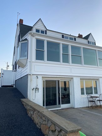 Plymouth, Priscilla Beach MA vacation rental - View of backside of house with patio overlooking the water