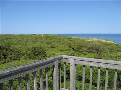 Wellfleet, Oceanfront Nat'l Seashore dune Cape Cod vacation rental - View from upstairs deck