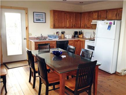 Wellfleet, Oceanfront Nat'l Seashore dune Cape Cod vacation rental - Living room/ Kitchen - another view