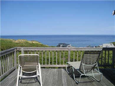 Wellfleet, Oceanfront Nat'l Seashore dune Cape Cod vacation rental - View from upstairs deck - 2