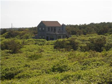 Wellfleet, Oceanfront Nat'l Seashore dune Cape Cod vacation rental - House from the edge of dune