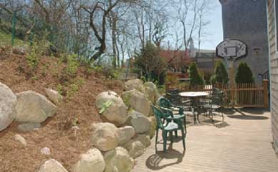 Provincetown Cape Cod vacation rental - Stone garden on patio
