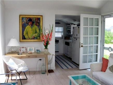 Wellfleet Cape Cod vacation rental - Living room looking into kitchen