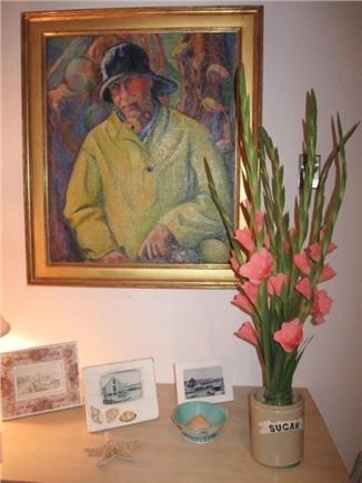 Wellfleet Cape Cod vacation rental - Painting of a Cape fisherman adds to the charm of the cottage