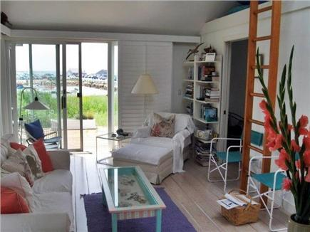 Wellfleet Cape Cod vacation rental - Living room with ladder to loft