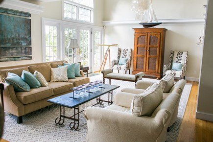 Brewster Cape Cod vacation rental - Living Room on main floor. This is one of five living areas.