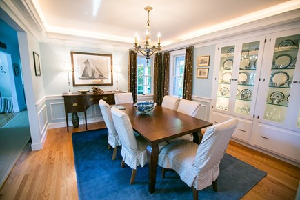 Brewster Cape Cod vacation rental - Dining room connects to kitchen seats eight.