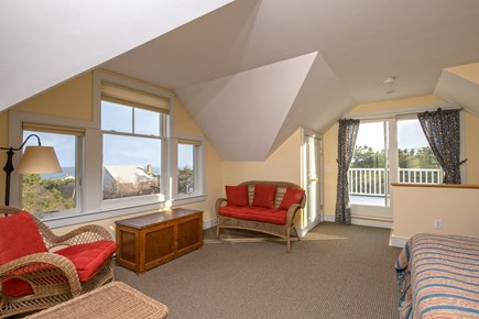 South Wellfleet Cape Cod vacation rental - Master Bedroom sitting area with water views
