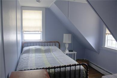 Falmouth Cape Cod vacation rental - Double and twin bed in the purple room