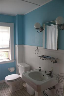 Falmouth Cape Cod vacation rental - Full bathroom upstairs with bath/shower