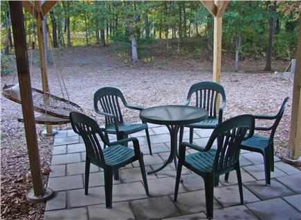 West Brewster / East Dennis  Cape Cod vacation rental - Lower patio area, great for warm days with swinging seat