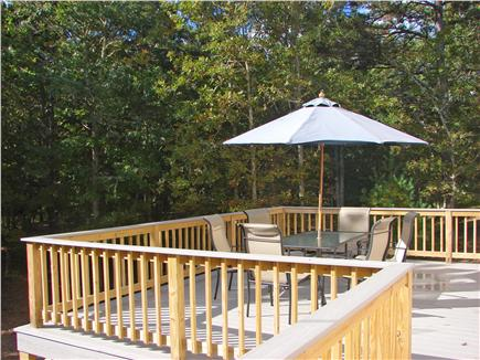 West Brewster / East Dennis  Cape Cod vacation rental - Spacious deck wraps around to barbecue patio & ext. shower.