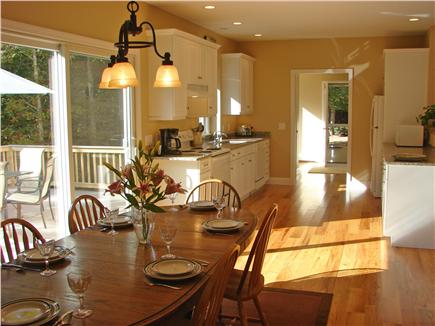 West Brewster / East Dennis  Cape Cod vacation rental - Kitch/dining. Open, bright floor plan with 5'' oak floors
