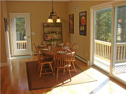 West Brewster / East Dennis  Cape Cod vacation rental - Lovely dining area with door and slider to wrap around deck