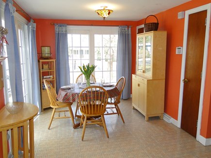 South Dennis Cape Cod vacation rental - Dining room view, from kitchen – bright and sunny!
