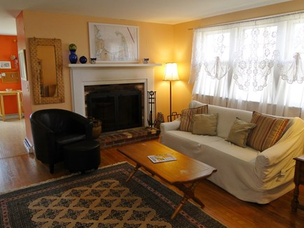 South Dennis Cape Cod vacation rental - Living room opens to kitchen and dining