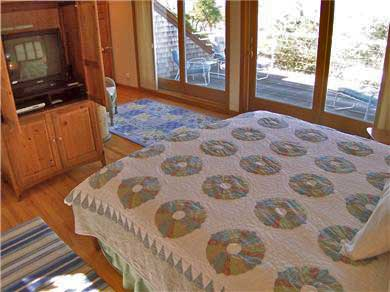 Brewster Cape Cod vacation rental - Upper level King MBR with oversized sliders to deck