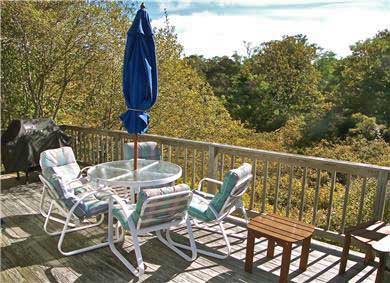 Brewster Cape Cod vacation rental - Secluded rear deck features views of a bayberry marsh . . .