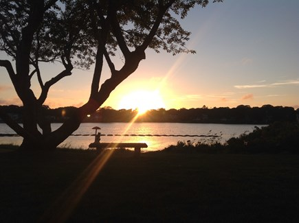 Falmouth Cape Cod vacation rental - Sunset in the backyard
