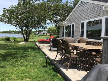 Falmouth Cape Cod vacation rental - Waterside deck with lots of room for diners.