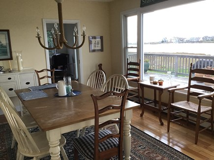 Falmouth Cape Cod vacation rental - Water view dining room with extra leaves and seating for 10