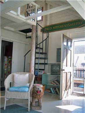 Provincetown Cape Cod vacation rental - Spiral stairway to loft bedroom