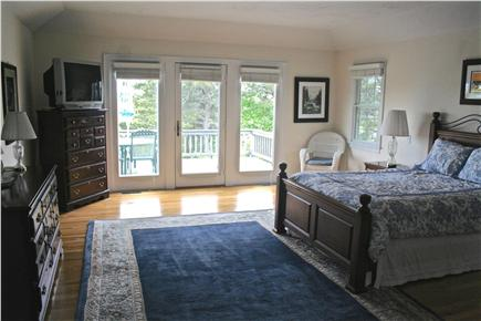 Chatham, short walk to Hardings Beach Cape Cod vacation rental - 1st Floor Master BR w/ waterview, deck, jacuzzi, shower, TV