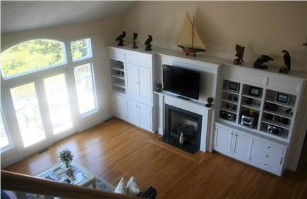 Chatham, short walk to Hardings Beach Cape Cod vacation rental - Great Room 46'' Flat scrn TV and Blu Ray player; waterview, deck
