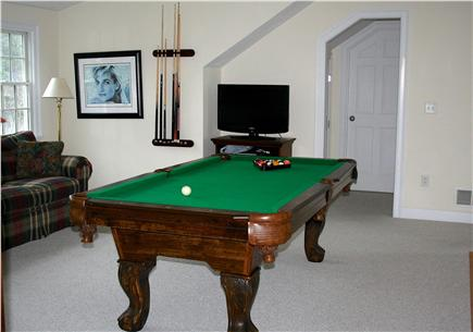 Chatham, short walk to Hardings Beach Cape Cod vacation rental - TV and game loft with pool table