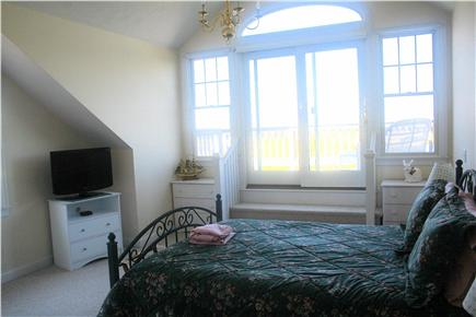 Chatham, short walk to Hardings Beach Cape Cod vacation rental - 2nd Floor Master Bedroom w/waterview, deck, TV, and large shower