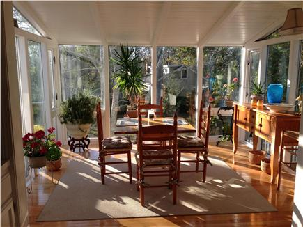 barnstable Cape Cod vacation rental - Beautiful Upstairs Sunroom off of the Kitchen beautiful view!