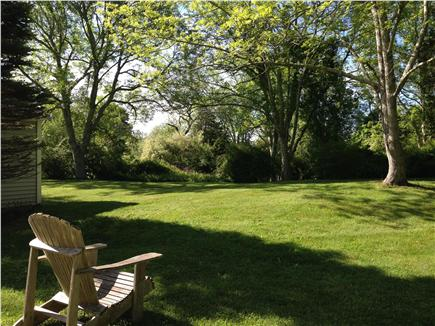 barnstable Cape Cod vacation rental - Beautiful backyard with lovely trees and landscaping