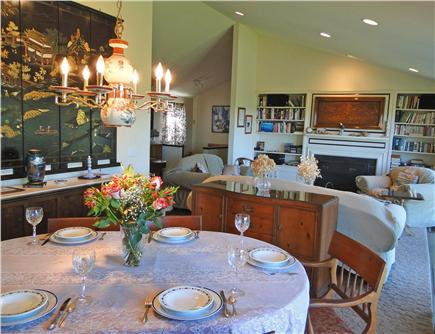 Chatham Cape Cod vacation rental - Elegant dining area with adjacent living room