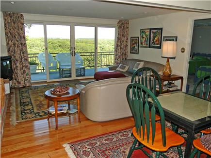 Chatham Cape Cod vacation rental - Lower level family room with TV, games and sliders to deck