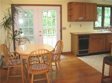Dennis Cape Cod vacation rental - Dining area with French doors to the deck