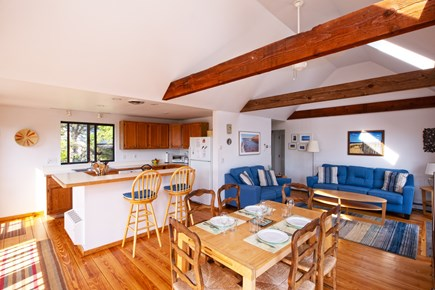 Wellfleet Cape Cod vacation rental - Living room/dining room area