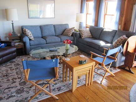 South Truro Cape Cod vacation rental - Living area with comfortable seating for all.