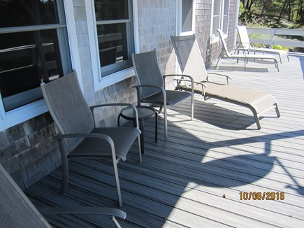 South Truro Cape Cod vacation rental - Perfect for quiet reading in shade or sunning on lower deck.