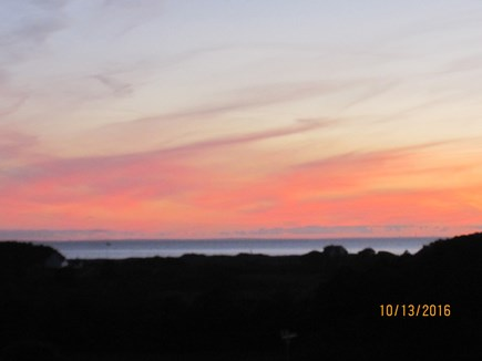 South Truro Cape Cod vacation rental - Sunsets from our deck are spectacular!
