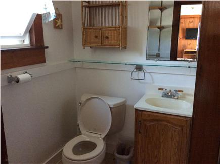 Dennis Port Cape Cod vacation rental - Bathroom with indoor shower with door leading to outdoor shower.