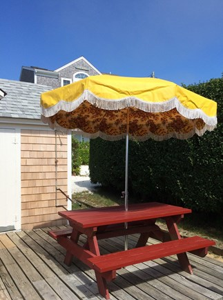 Dennis Port Cape Cod vacation rental - Dine outside on sunny deck