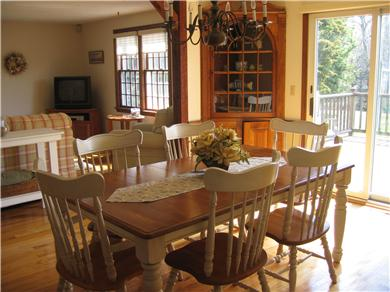 Dennis Cape Cod vacation rental - Dining area with sliders to deck