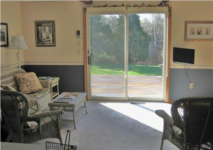 Dennis Cape Cod vacation rental - Family room opens to deck