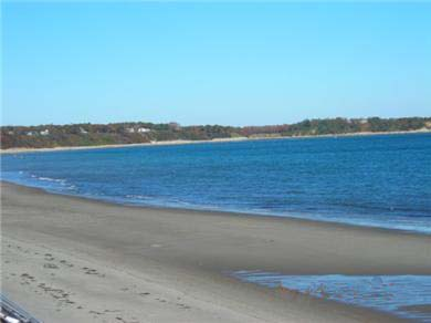 Plymouth MA vacation rental - View of beach & water