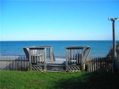 Plymouth MA vacation rental - Seating deck to Stairs